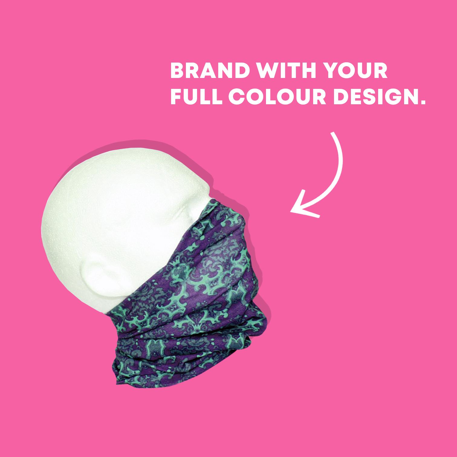 full colour face covering bandana