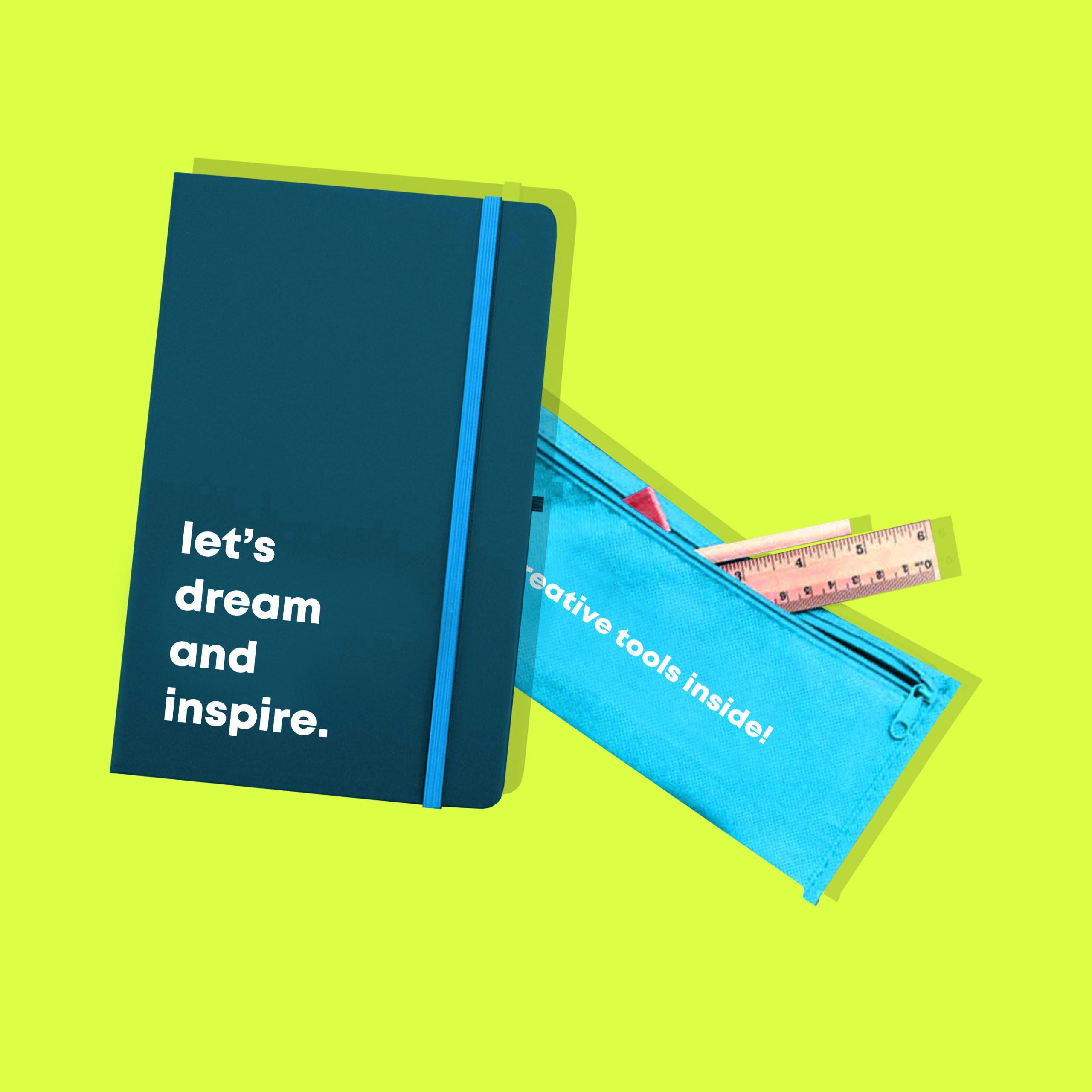 promotional notebook and pencil case