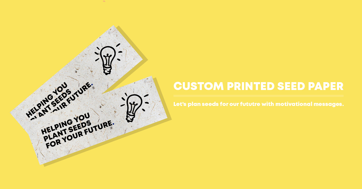 promotional seed paper