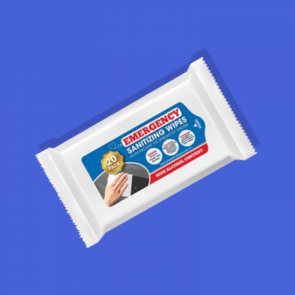 Hand Sanitising Wipes 20 PACK