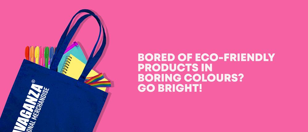 bright eco merchandise banner
