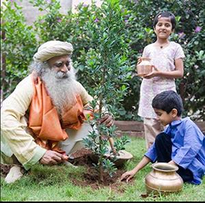 sadguru planting trees