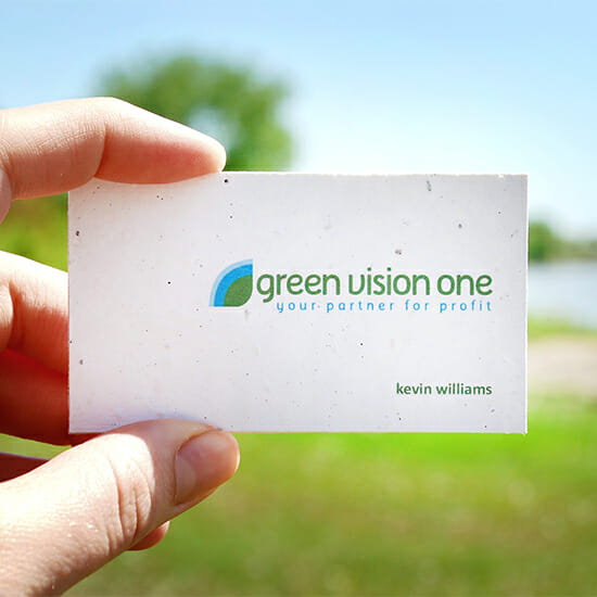 we supply personalised seeded business cards