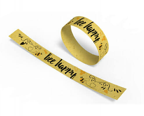 branded seeded paper wristbands