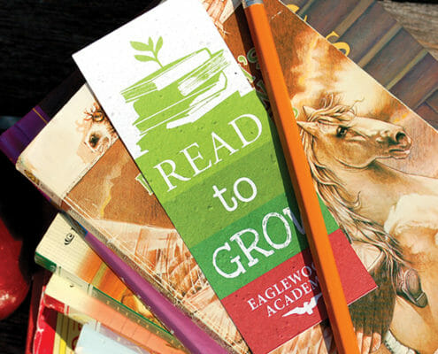 seeded paper book marks
