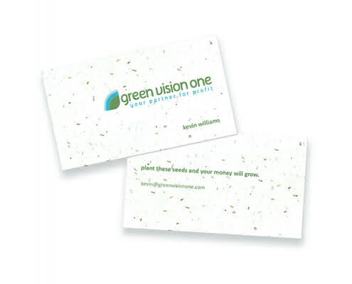 seeded business cards