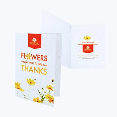 seeded paper greetings card