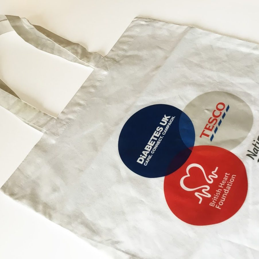 charity and fundraising bag