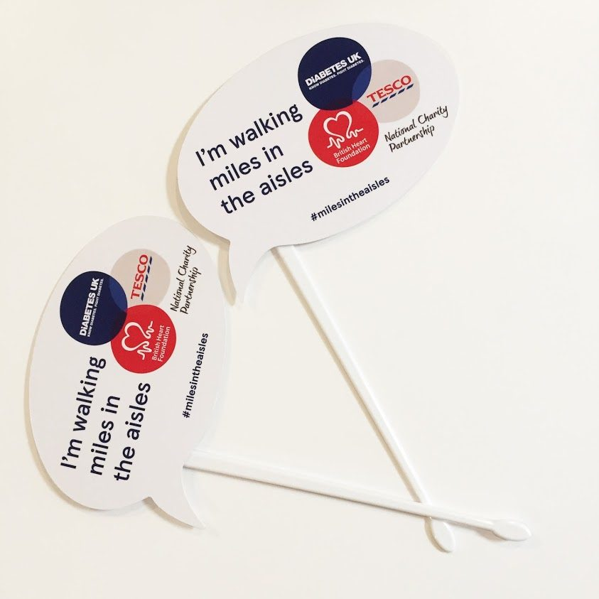 charity and fundraising banner stick