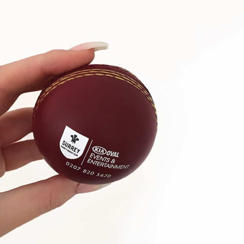 oval cricket stressball