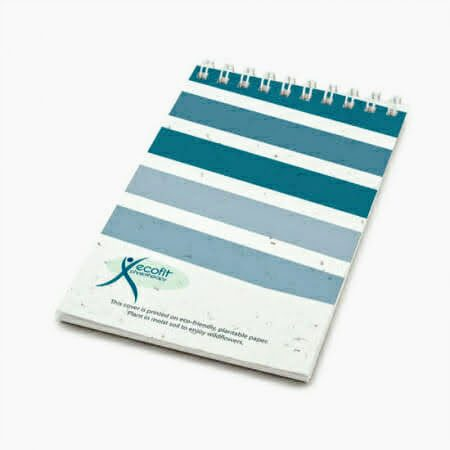 seeded paper notepad